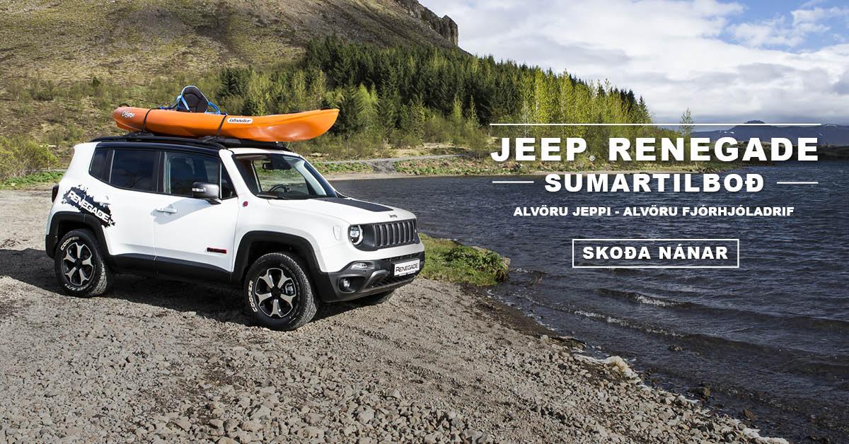 Jeep Renegade Sumartilboð maí 2019